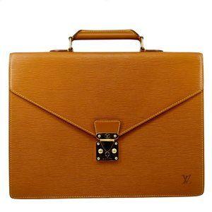 Auth Louis Vuitton Serviette Conseiller #7746L23